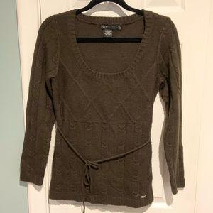 Point Zero brown scoop-neck sweater